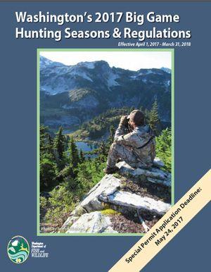 Washington 2017 hunting rules pamphlet.