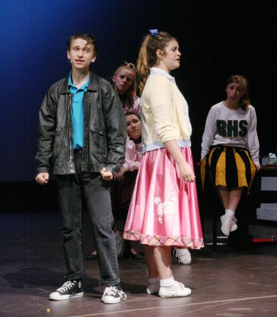 """Students from Saint George's School are putting on """"Grease,"""" their first production of the year, starring Justin Heftel as Danny Zuko and Hailey Hyde as Sandy Dombrowski."""
