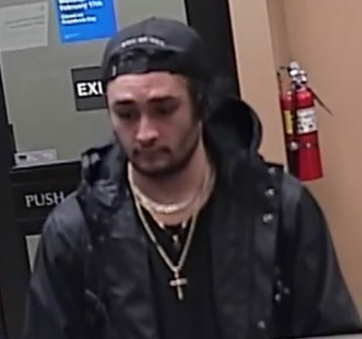 Kalamazoo bank robbery suspect who police have identified as Daniel Solis, 28. (Kalamazoo Department of Public Safety)