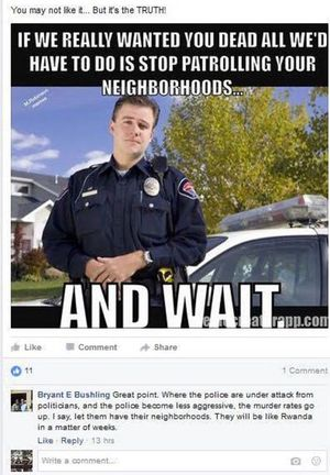 Original post made by deputy prosecutor Bryant Bushling on a Facebook post and later edited. (Screen shot courtesy of Coeur d'Alene Press)