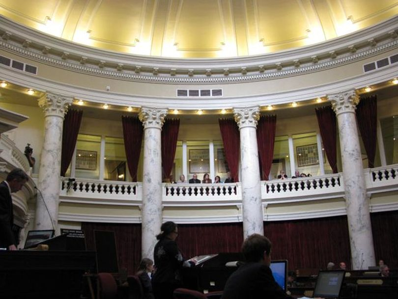 The Idaho Senate continues debating well after 5 p.m. on  Thursday, more than two hours after the House adjourned for the session. (Betsy Russell)