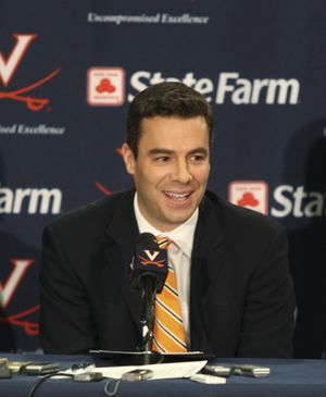 Tony Bennett speaks to the media in Charlottesville, Va., after being introduced as Virginia men's basketball coach.  (Associated Press / The Spokesman-Review)