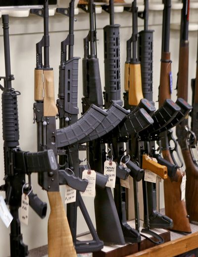 A law restricting the sale of semiautomaticrifles approved by voters in 2018 has been upheld as constitutional.  (Keith Srakocic)