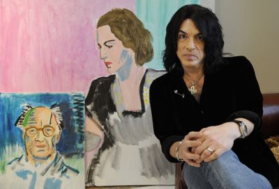Paul Stanley and his artwork.  (Associated Press / The Spokesman-Review)