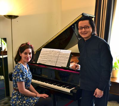 """Maimie McCoy and Spokane native Archie Chen appear in the BBC film """"Loving Miss Hatto."""""""