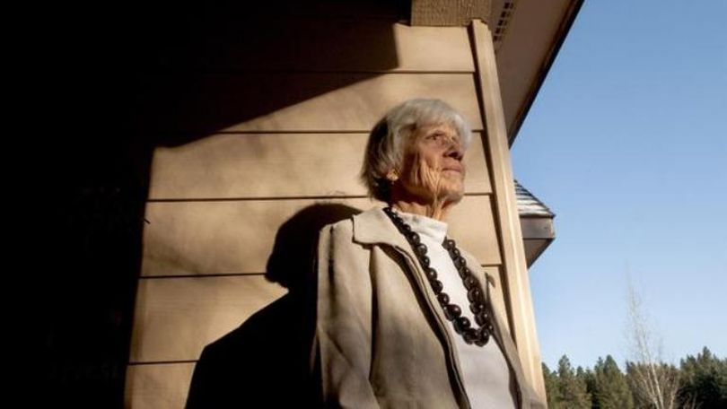 Nancy Harlocker, of Dalton Gardens, describes the day she watched the bombing of Pearl Harbor from her rooftop. Her father, a dentist, left the family for a few weeks because all medical personnel were needed to tend to the injured. She later became a newswoman with the Honolulu Advertiser. She was photographed at her home Nov. 24, 2015. (Kathy Plonka / The Spokesman-Review)