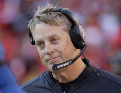 The Washington Redskins have hired former Jacksonville and Oakland head coach Jack Del Rio as defensive coordinator. (Charlie Riedel / Associated Press)