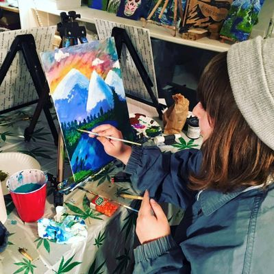 Some art studios outside of Washington are inviting people to get creative while enjoying cannabis.  (Courtesy Puff and Paint)