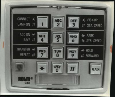 Rolm Model computerized telephone from 1983.  (Spokesman-Review archives)