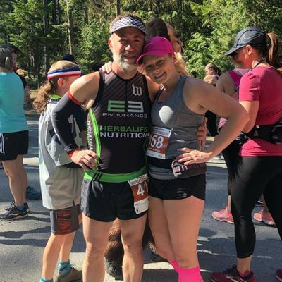 James Sheppard, with his wife Tracey, has his sights set on the 140.6-mile Ironman. But first, he must conquer Sunday's 70.3 race in Coeur d'Alene. (James Sheppard / Courtesy)