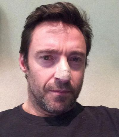 This undated but recent selfie posted on Instagram by Hugh Jackman shows