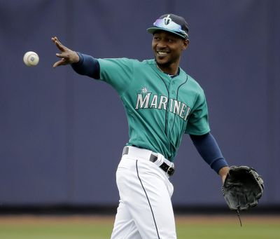 The additions of Jarrod Dyson, pictured, and Mitch Haniger are significant upgrades to the speed and athleticism in the outfield and combined with Leonys Martin in center field should give Seattle one of the best outfield defenses in the American League. (Charlie Riedel / AP)