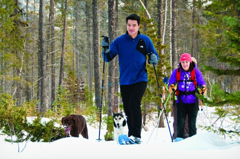 Snowshoeing is another popular activity in the West Glacier area. (Darrin Schreder / Courtesy Glacier Country Tourism)