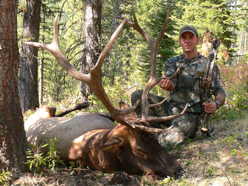 Corey Jacobsen, six-time world chamption elk caller, has killed a bull in Idaho every year since 1996. (COURTESY OF COREY JACOBSEN / The Spokesman-Review)