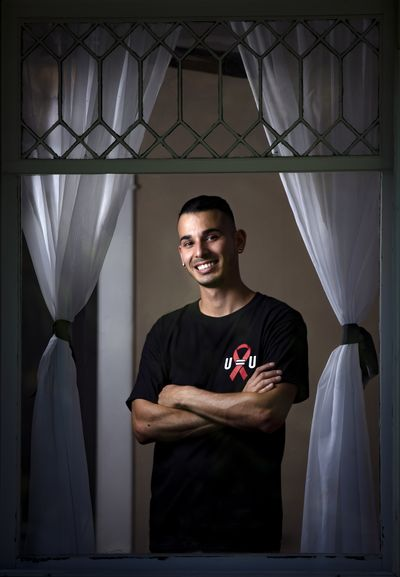 David Rendon. a gay, HIV-positive man has been working to spread the word that people in treatment with an undetectable viral load cannot transmit the HIV virus sexually. (Colin Mulvany / The Spokesman-Review)
