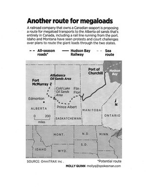 Proposed alternate route for megaloads