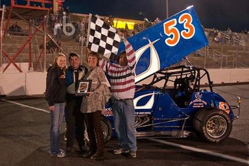 Tony Berry, the current INSCA points leader, after a win at Spokane County Raceway. (Photo courtesy of RB Images) (Unknown Unknown / The Spokesman-Review)