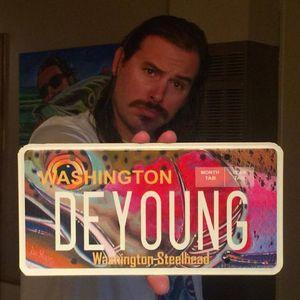 Artist and avid angler Derek DeYoung designed Washington's steelhead vehicle license plate, which benefits steelhead conservation programs. (Washington Department of Fish and Wildlife)