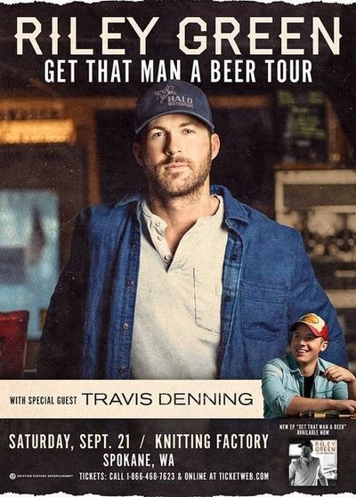 """Riley Green's """"Get That Man a Beer"""" tour brings the country singer to the Knitting Factory on Sept. 21. (Courtesy photo)"""