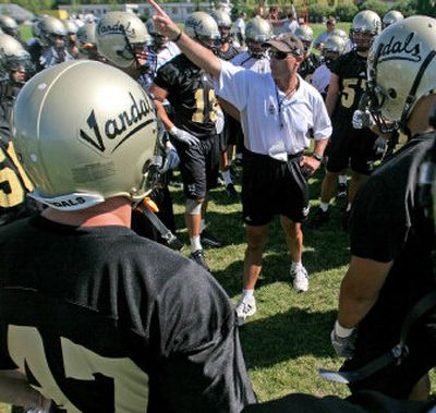 University of Idaho head coach Nick Holt believes the Vandals have made strides in his second season at the helm.   (Christopher Onstott/ / The Spokesman-Review)