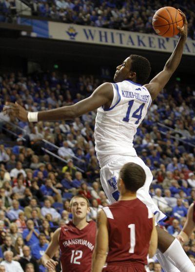 Michael Kidd-Gilchrist is one of three freshmen starting at Kentucky. (Associated Press)