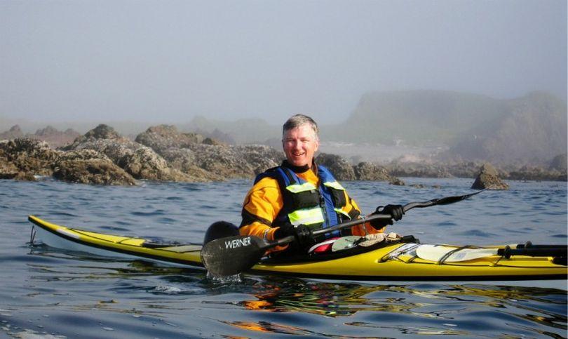 Roy Massena poses in his sea kayak during an Alaska journey. ( Roy Massena)