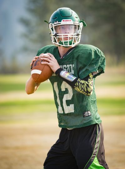 Lakeside quarterback Cameron Gay is a 6-4, 165-pound, two-time all league player. (Colin Mulvany)