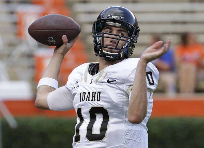 Matt Linehan is a quarterback at Idaho, just like his father. (Associated Press)