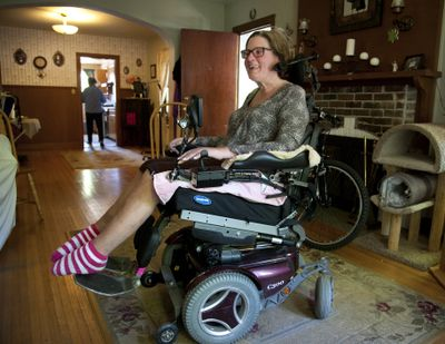 Jenny Hoff was diagnosed with ALS eight years ago and is getting a new wheelchair, which she has needed for some time. Although insurance is paying for the chair, there are some amenities that insurance will not cover. Aracelia's Mexican Restaurant is holding a spaghetti dinner fundraiser for her on Sunday, from noon to 7 p.m. (Dan Pelle)