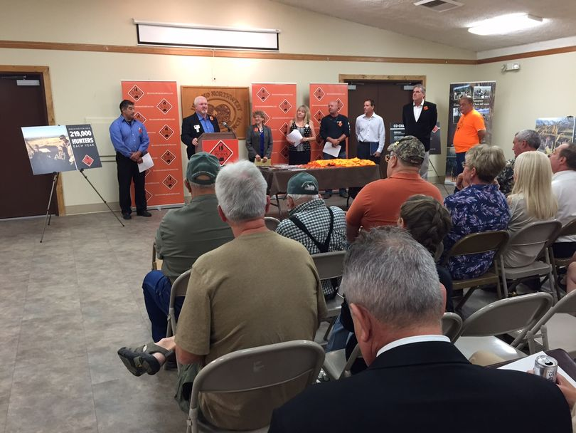 Representatives of businesses, sportsmen's groups and the Washington Legislature held a media conference in Spokane on Sept. 10 to promote their new campaign,