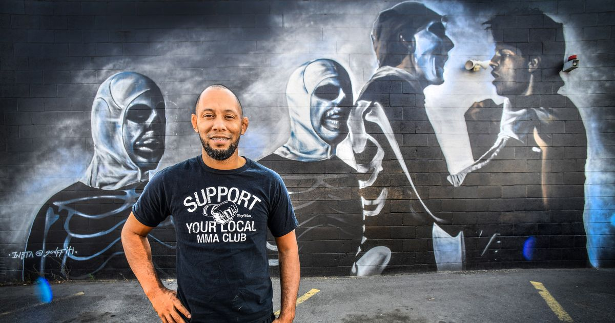 'It's aggressive. It's interesting': East Trent gym mural pays homage to classic 1984 film 'The Karate Kid'