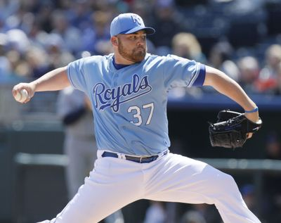 Royals' Sean O'Sullivan pitched five scoreless innings against the Mariners on Saturday. (Associated Press)
