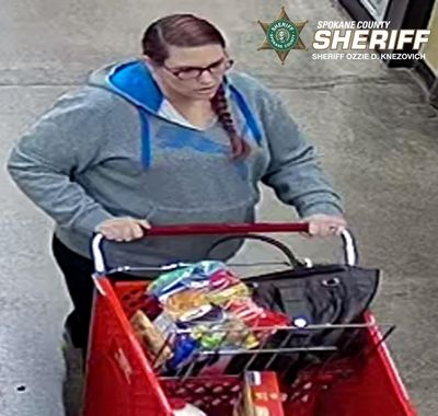 Police are asking for help identifying a suspect of identity theft and fraud. (Courtesy of Spokane Valley Sheriff's Office)