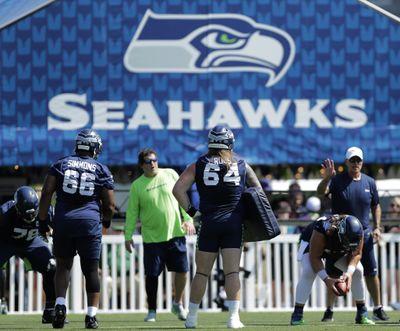 Seattle Seahawks guards Jordan Simmons  (Associated Press)
