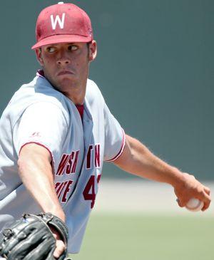 Washington State starter David Stilley went six-plus innings. (Associated Press / The Spokesman-Review)