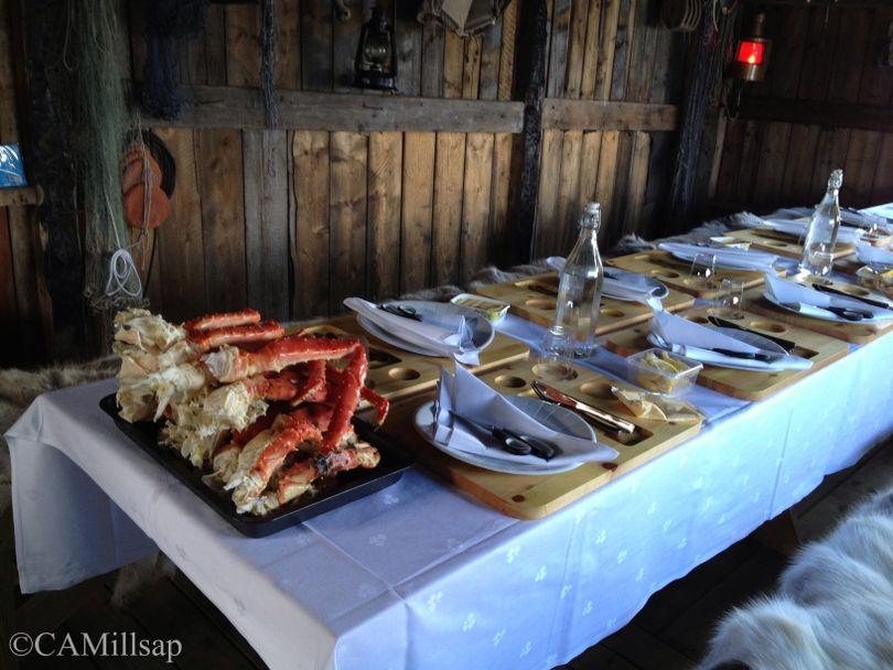 Fresh Norwegian King crab caught in the fjord near Kirkenes, Norway. (Cheryl-Anne Millsap / Photo by Cheryl-Anne Millsap)