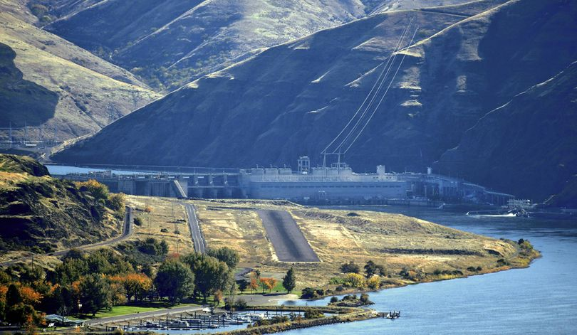 This Oct. 19, 2016, file photo shows the Lower Granite Dam on the Snake River in Washington. (Jesse Tinsley / The Spokesman-Review)