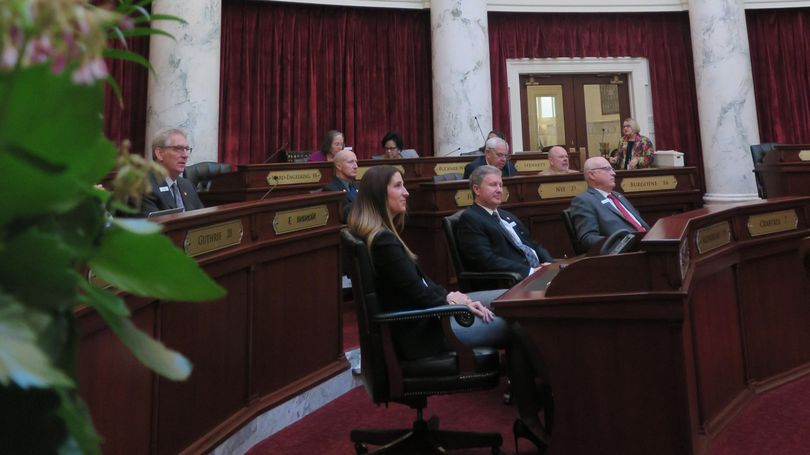 The Idaho Senate meets on Wednesday, March 28, 2018, the final day of the annual legislative session. (Betsy Z. Russell / The Spokesman-Review)
