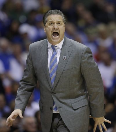 John Calipari's young team is on verge of Final Four. (Associated Press)