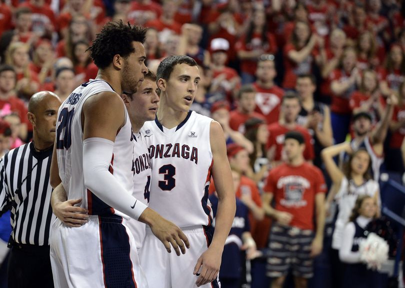 Fans see Gonzaga's unity on the court in Elias Harris, Kevin Pangos and Kyle Dranginis, but the team is close outside basketball as well. (Colin Mulvany)