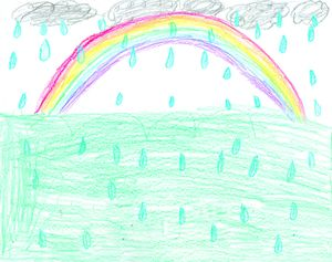 """Duncan Cooper, 10, will see his drawing """"A Rainbow in Ireland"""" published in the October issue of the children's magazine Highlights for Children. Cooper is in fifth grade at Cataldo Catholic School and the son of Noah and Terese Cooper."""