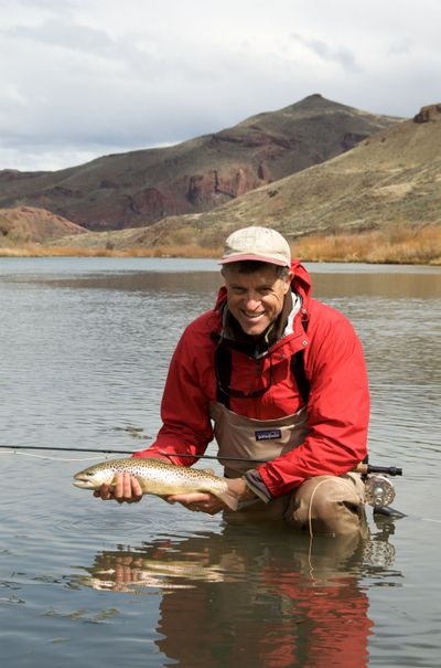 Aquatic biologist Rick Hafele has professional insight on trout diets.Photo courtesy of Rick Hafele (Photo courtesy of Rick Hafele / The Spokesman-Review)