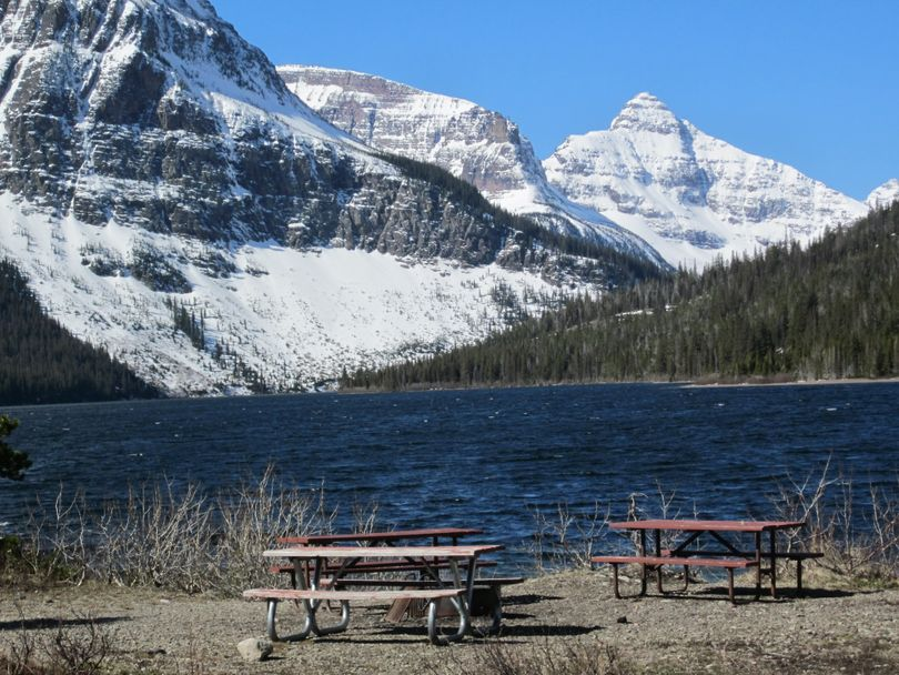 The view from Glacier National Park's Two Medicine campground on April 16, 2015. (National Park Service)