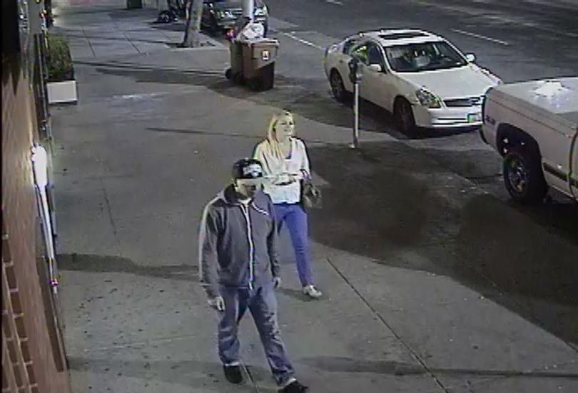 Police are asking for help identifying two people sought for questioning about an assault in downtown Spokane last month.