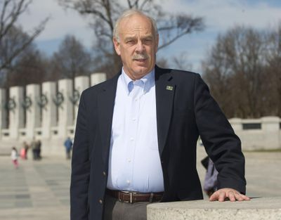 Head of the National Park Foundation Dan Wenk poses for a photo March 23, 2015, at the World War II Memorial on the National Mall in Washington. Wenk, who has been superintendent of Yellowstone since 2011, announce Friday, June 1, 2018, he would be retiring next March. (Pablo Martinez Monsivais / AP)
