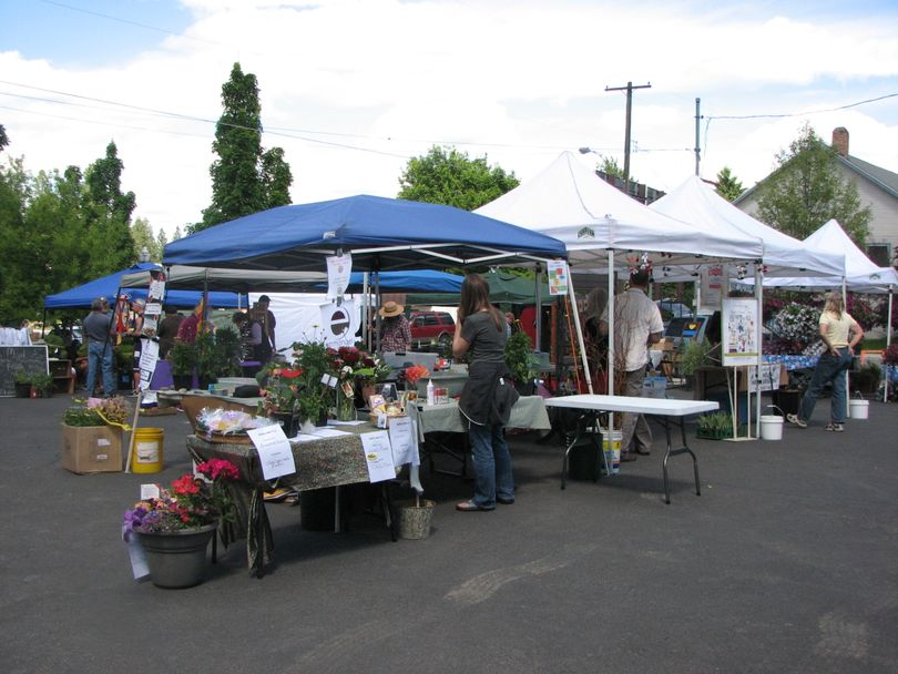 Opening day, June 3, at the South Perry Farmers Market. The market is open every Thursday from 3-7 p.m. in the parking lot at The Shop. (Pia Hallenberg)