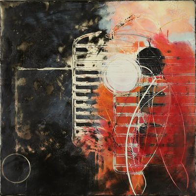 """Wendy Franklund Miller's """"Dancing As Fast As I Can No. 2"""" (encaustic, 2009, from the collection of Al Kiefer) is among the works featured in """"Persistence,"""" her solo show on this summer at the Northwest Museum of Arts and Culture. (Wendy Franklund Miller)"""