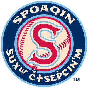 Come June 13, the Spokane Indians will wear uniforms that bear the Spokane Salish language version of their name. (Images courtesy of Spokane Indians)