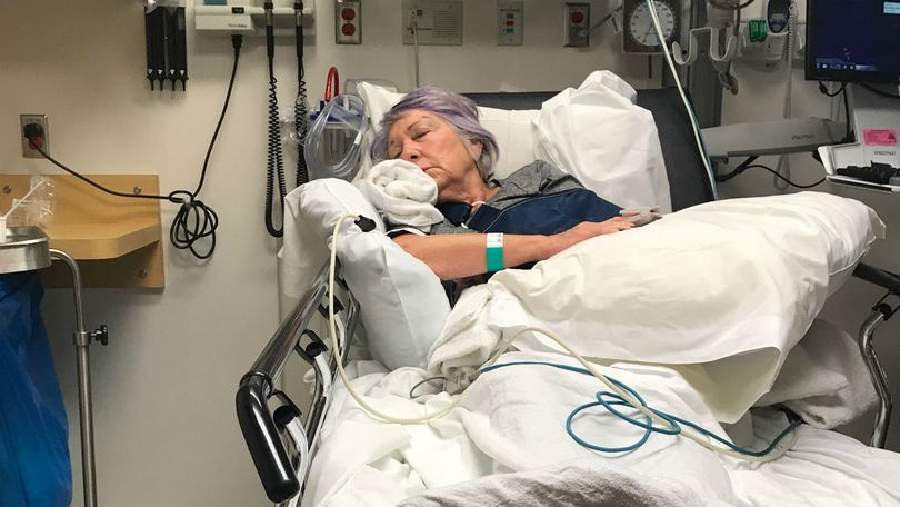 Virginia Pearsall was hospitalized after being knocked down from behind by a bicyclist as she walked on the Centennial Trail on Sept. 29, 2017. (Courtesy)
