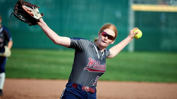 Mt. Spokane pitcher Morgan Flesland struck out 16 in a 13-1 win over Gonzaga Prep on Tuesday, April 27, 2021. Flesland has committed to Oregon State.  (COLIN MULVANY/THE SPOKESMAN-REVIEW)